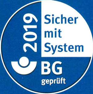 BG geprüft - Sicher mit System