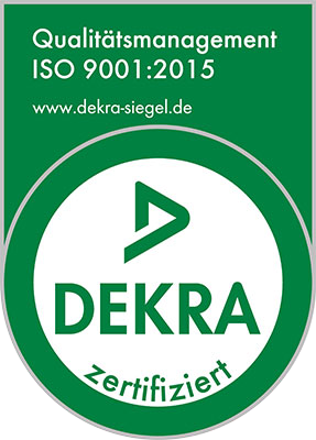 DEKRA-Siegel Qualitätsmanagement ISO 9001:2015